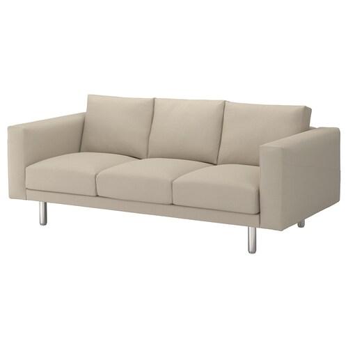 NORSBORG 3-seat sofa Edum beige/metal 213 cm 88 cm 85 cm 18 cm 60 cm 43 cm