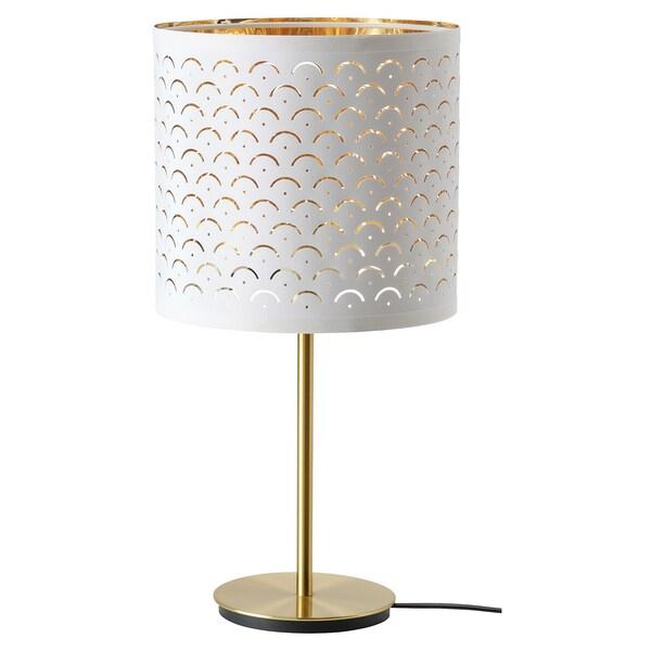 NYMÖ / SKAFTET table lamp white brass/brass 24 cm 30 cm