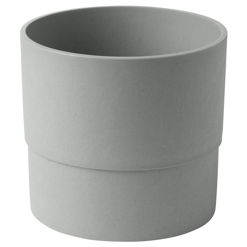 NYPON plant pot in/outdoor grey 15 cm 17 cm 15 cm 16 cm
