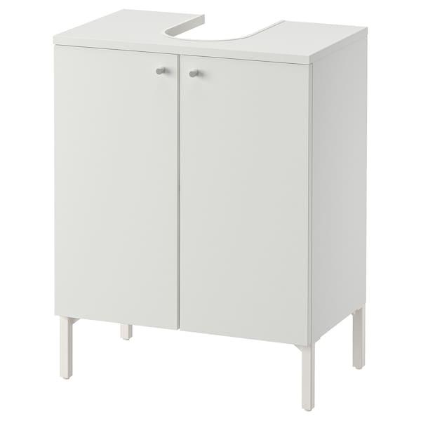 NYSJÖN خزانة قاعدة الحوض مع بابين, أبيض, 50x65 سم