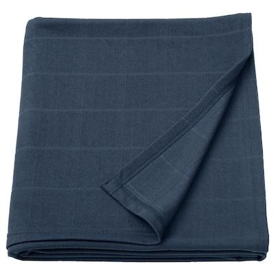 ODDHILD Throw, dark blue, 120x170 cm