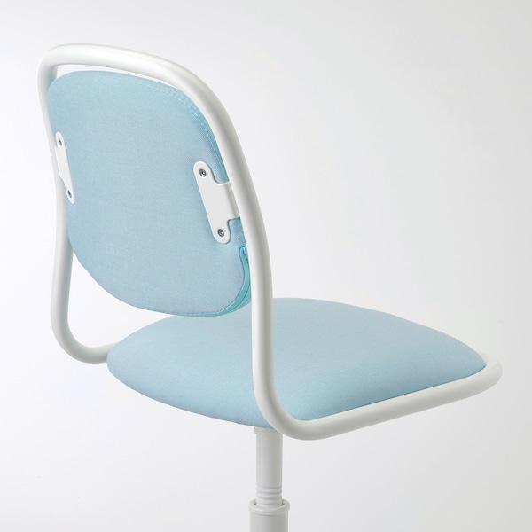 ÖRFJÄLL كرسي مكتب أطفال, أبيض/Vissle أزرق/ أخضر
