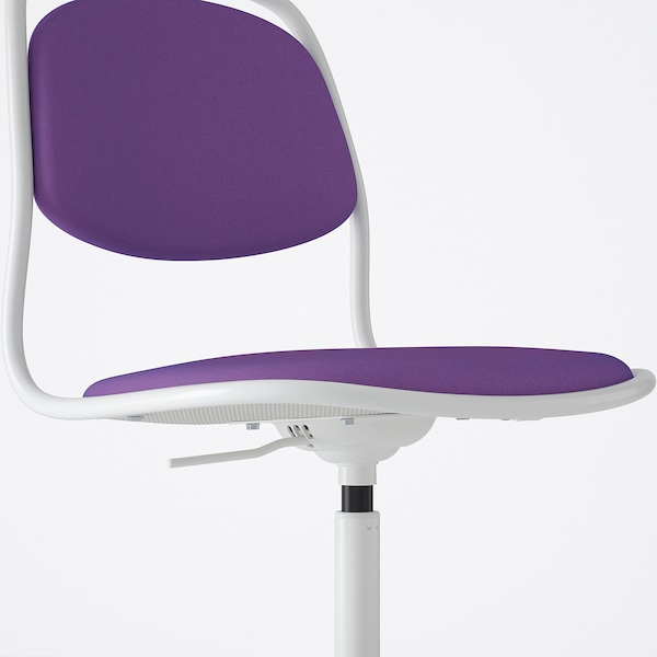 ÖRFJÄLL Swivel chair, white/Vissle purple
