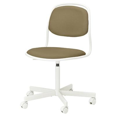 ÖRFJÄLL كرسي دوّار, أبيض/Vissle أصفر- أخضر