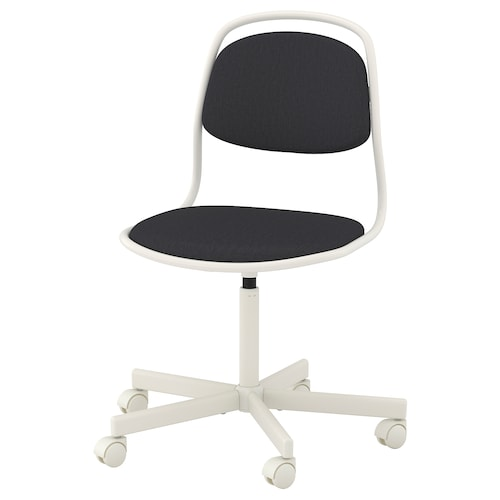 ÖRFJÄLL swivel chair white/Vissle dark grey 110 kg 68 cm 68 cm 94 cm 49 cm 43 cm 46 cm 58 cm