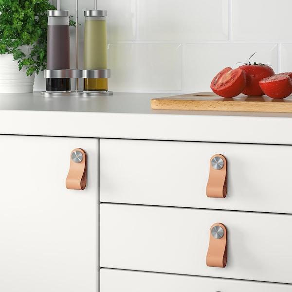 ÖSTERNÄS Leather handle, tanned leather, 65 mm