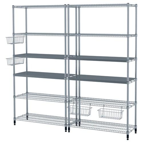 OLAUS 2 shelf sections 197 cm 36 cm 181 cm