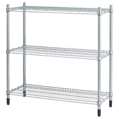 OLAUS shelving unit galvanised 92 cm 36 cm 94 cm 33 kg