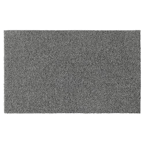 OPLEV door mat in/outdoor grey 80 cm 50 cm 11 mm 0.40 m² 2000 g/m² 580 g/m² 8 mm