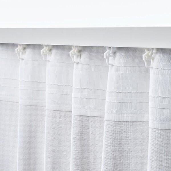 ORDENSFLY ستائر، 1 زوج, أبيض/بيج, 145x300 سم