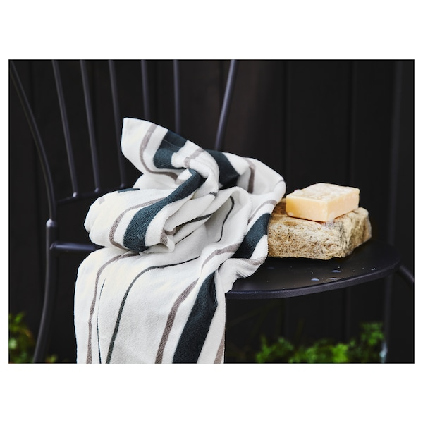 OTTSJÖN bath towel white/blue 140 cm 70 cm 0.98 m² 390 g/m²