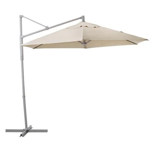 OXNÖ / LINDÖJA parasol, hanging beige 200 g/m² 265 cm 300 cm