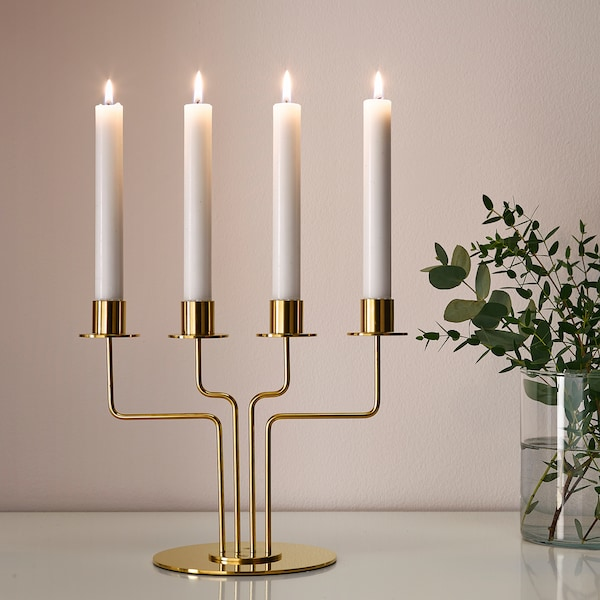 PÄRLBAND candelabra 22 cm