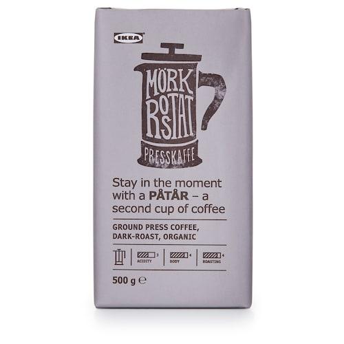 PÅTÅR press coffee, dark roast organic/UTZ certified/100 % Arabica beans 500 g