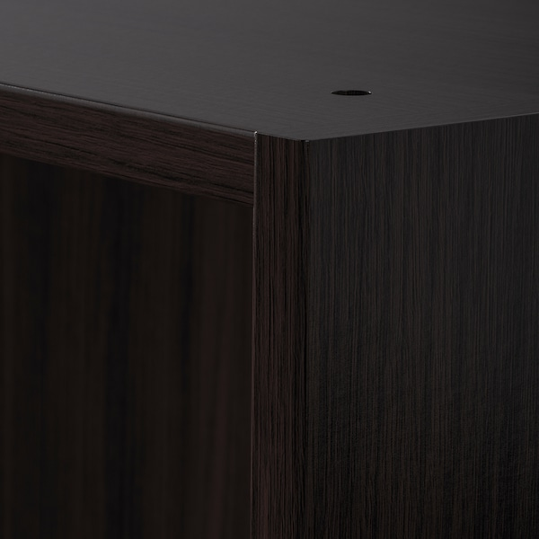 PAX 2 wardrobe frames, black-brown, 200x58x236 cm