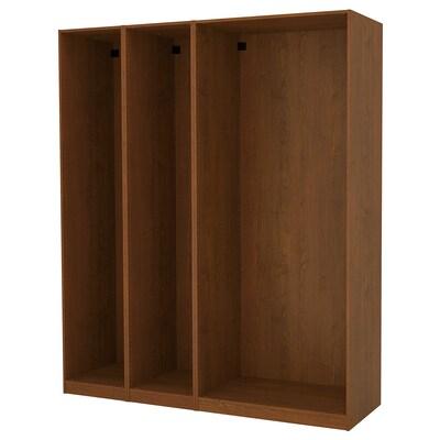 PAX 3 هياكل دولاب ملابس, مظهر الخشب مصبوغ بني, 200x58x236 سم
