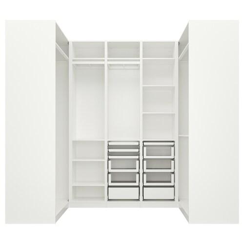 PAX corner wardrobe white 270.8 cm 236.4 cm 112.9 cm 112.9 cm