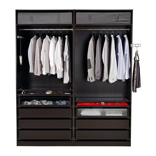 Home bedroom wardrobes pax system combinations with doors - Pax Wardrobe 200x58x236 Cm Ikea