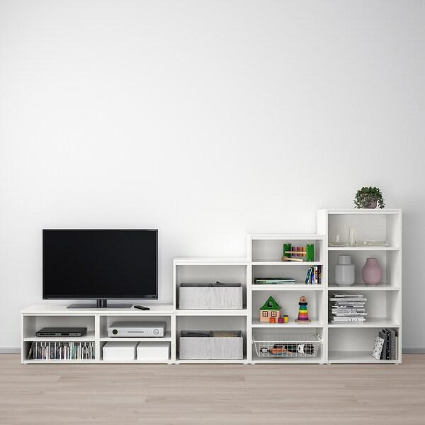 PLATSA Media storage combination, 300x42x131 cm