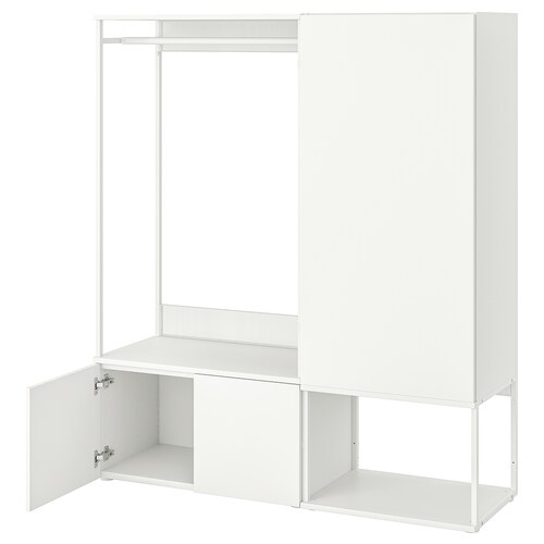 PLATSA wardrobe with 3 doors white/Fonnes white 140 cm 42 cm 161 cm