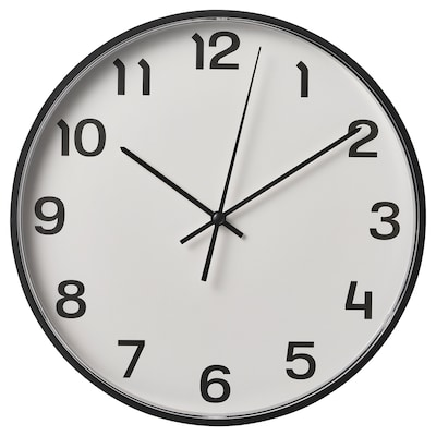 PLUTTIS ساعة حائط, أسود, 28 سم