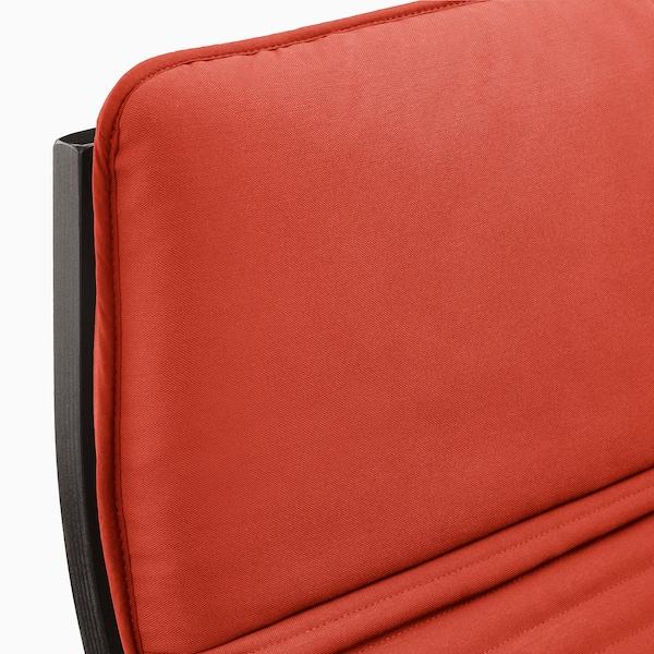 POÄNG Armchair - black-brown, Knisa orange red/orange - IKEA