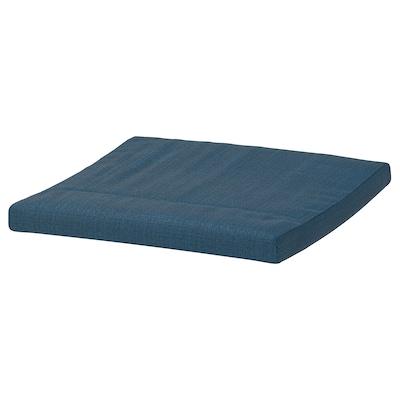 POÄNG Footstool cushion, Hillared dark blue