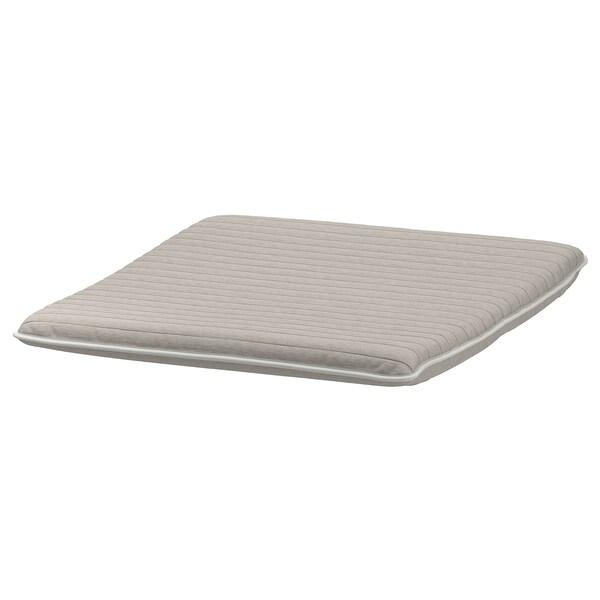 POÄNG footstool cushion Knisa light beige