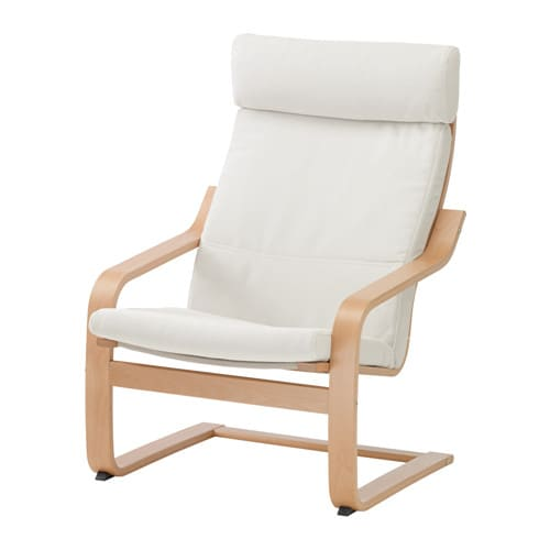 Po ng armchair finnsta white ikea for Chaise bercante allaitement