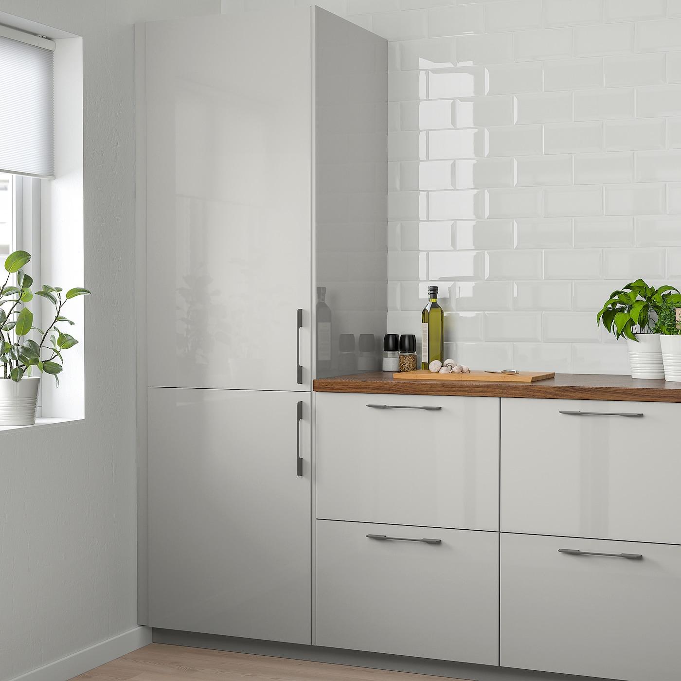 RINGHULT Door - high-gloss light grey 9x19 cm