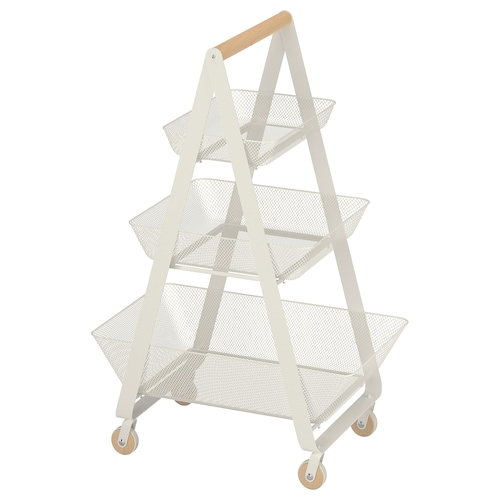 RISATORP trolley white 57 cm 39 cm 86 cm 24 kg