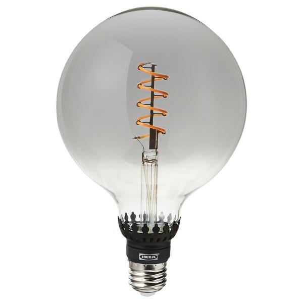 ROLLSBO لمبة LED E27 200 lumen - خافتة للضوء/كروي زجاج رمادي شفاف ...