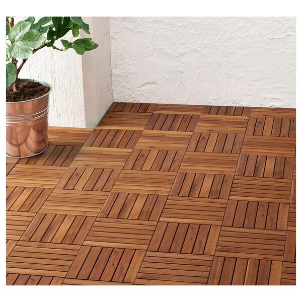 RUNNEN Floor decking, outdoor, light brown, 0.81 m²