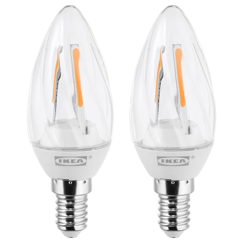 RYET LED bulb E14 200 lumen chandelier/twisted clear 2 pack
