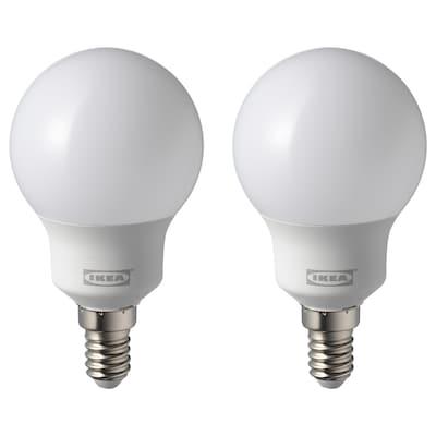 RYET LED bulb E14 600 lumen, globe opal white, 4000K
