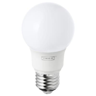 RYET LED bulb E27 400 lumen, globe opal white