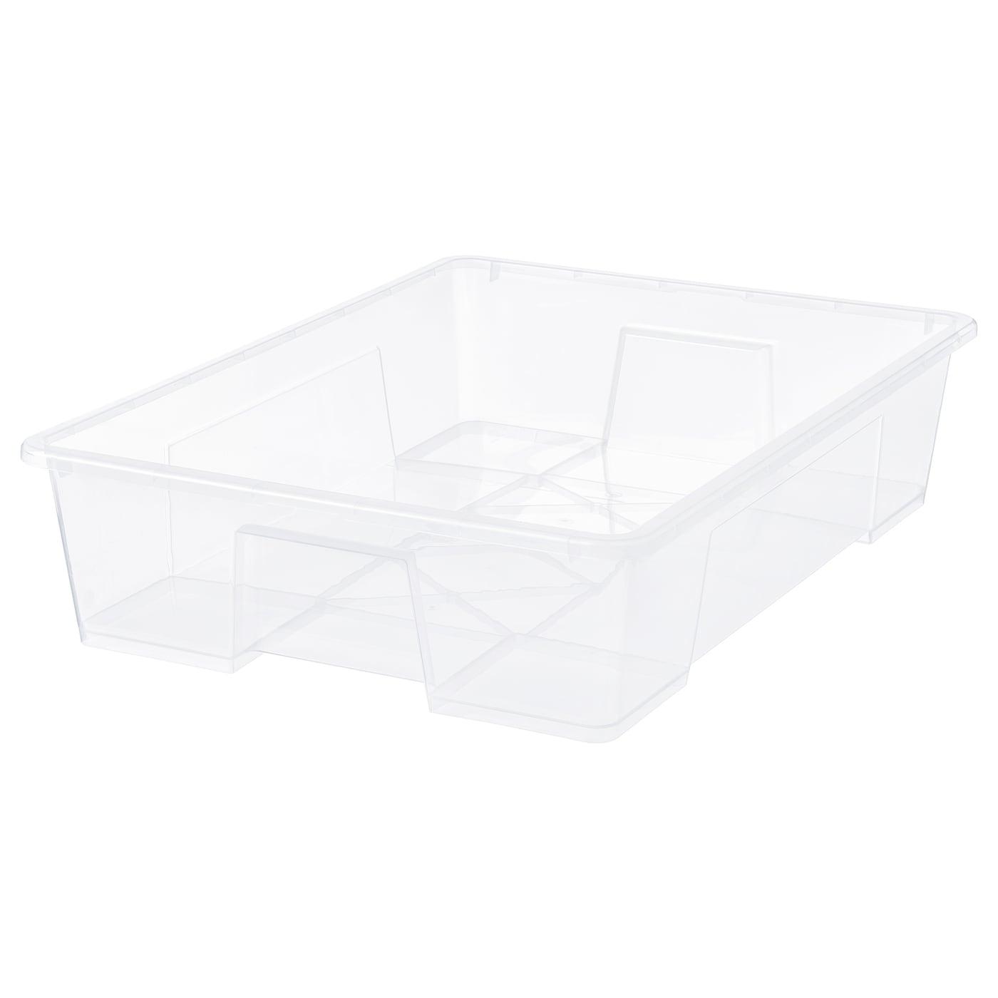 for Box  55//130 l SAMLA Ikea Plastic Clip Locks In Transparent 4 Pack