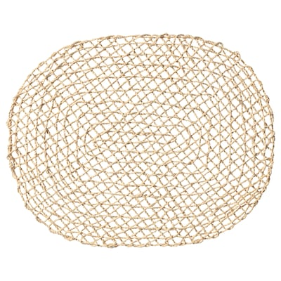 SAMTLIGA Place mat, natural/palm leaf, 35x45 cm