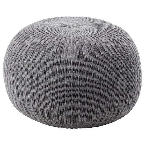 SANDARED pouffe grey 41 cm 56 cm