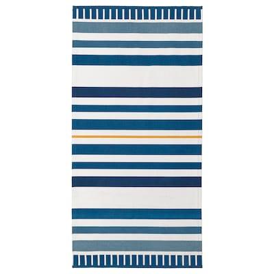 SÅNGLÄRKA سجاد، غزل مسطح, أزرق غامق, 80x160 سم