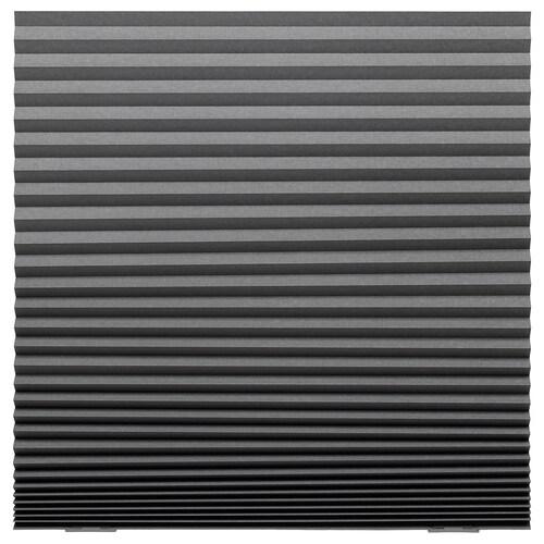 SCHOTTIS block-out pleated blind dark grey 190 cm 100 cm 1.90 m²