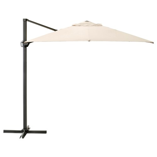 SEGLARÖ parasol, hanging beige/tilting 200 g/m² 330 cm 240 cm 260 cm