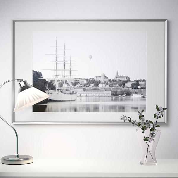 SILVERHÖJDEN Frame, silver-colour, 61x91 cm