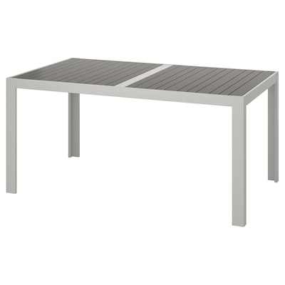 SJÄLLAND Table, outdoor, dark grey/light grey, 156x90 cm