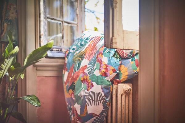 SKOGSFIBBLA quilt cover and 2 pillowcases white/multicolour 152 /inch² 2 pack 220 cm 240 cm 50 cm 80 cm