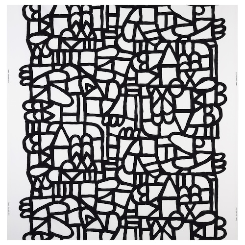 SKUGGBRÄCKA fabric white/black 230 g/m² 150 cm 1.50 m²