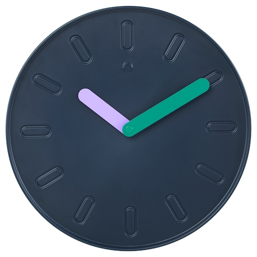 SLIPSTEN wall clock dark blue 2.9 cm 35 cm