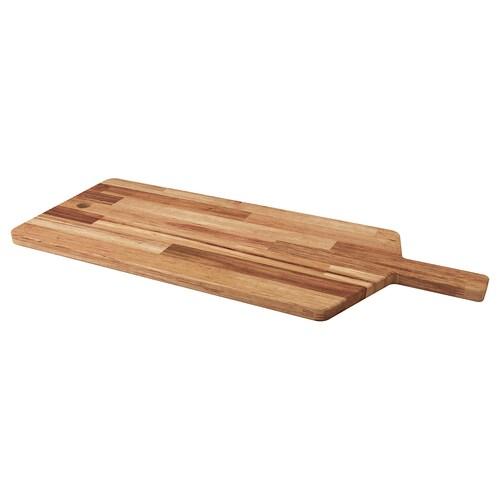 SMÅÄTA chopping board acacia 72 cm 28 cm 16 mm
