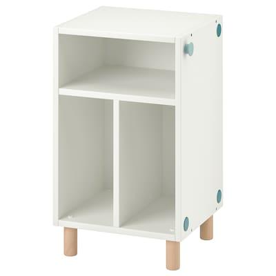 SMUSSLA طاولة سرير جانبية/وحدة رف, أبيض