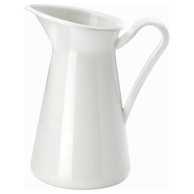 SOCKERÄRT Vase, white, 22 cm